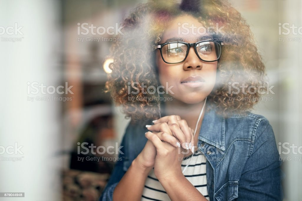 Let your mind wander every now and then stock photo