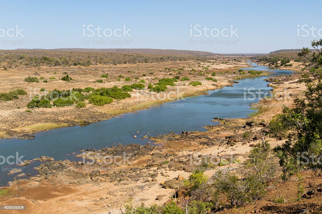 Letaba River Landscape stock photo