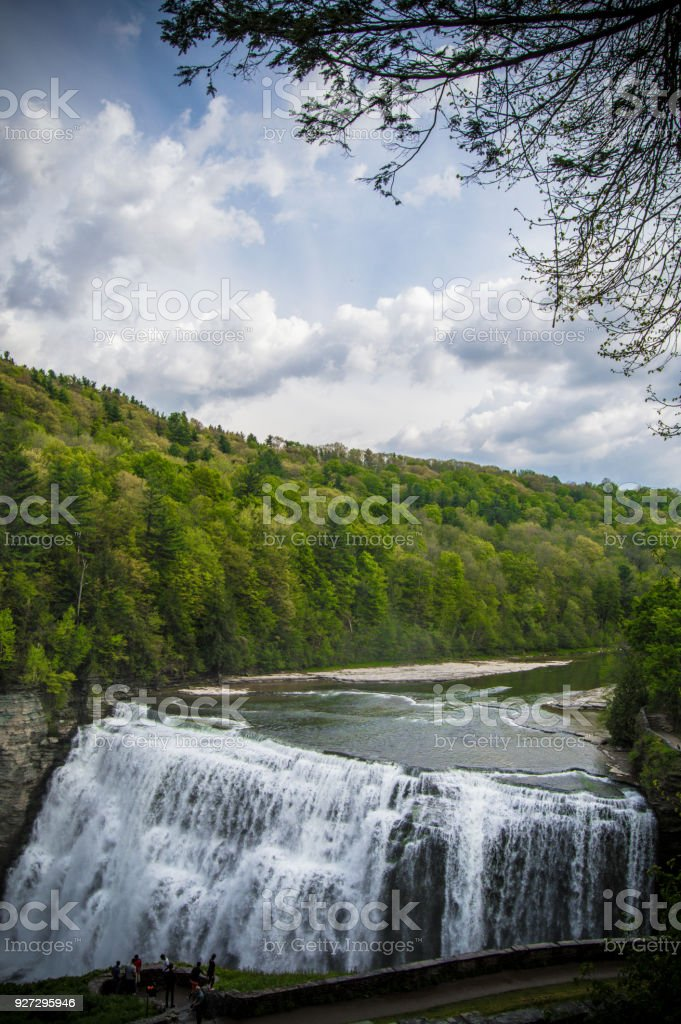 Letchworth State Park Lower Falls stock photo