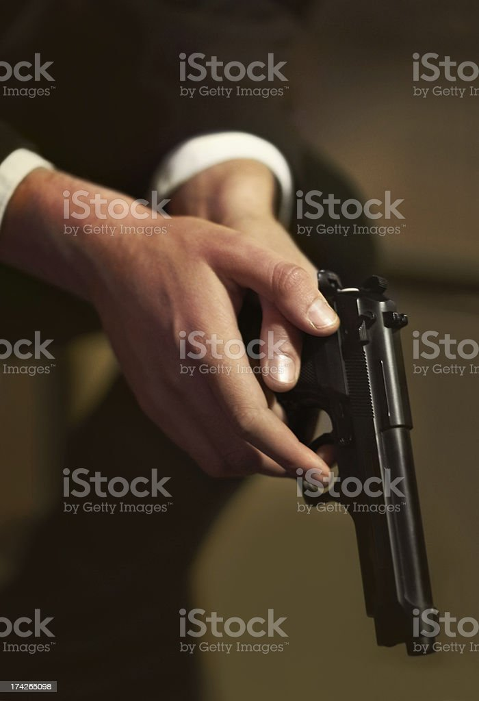 Lethal weapon royalty-free stock photo