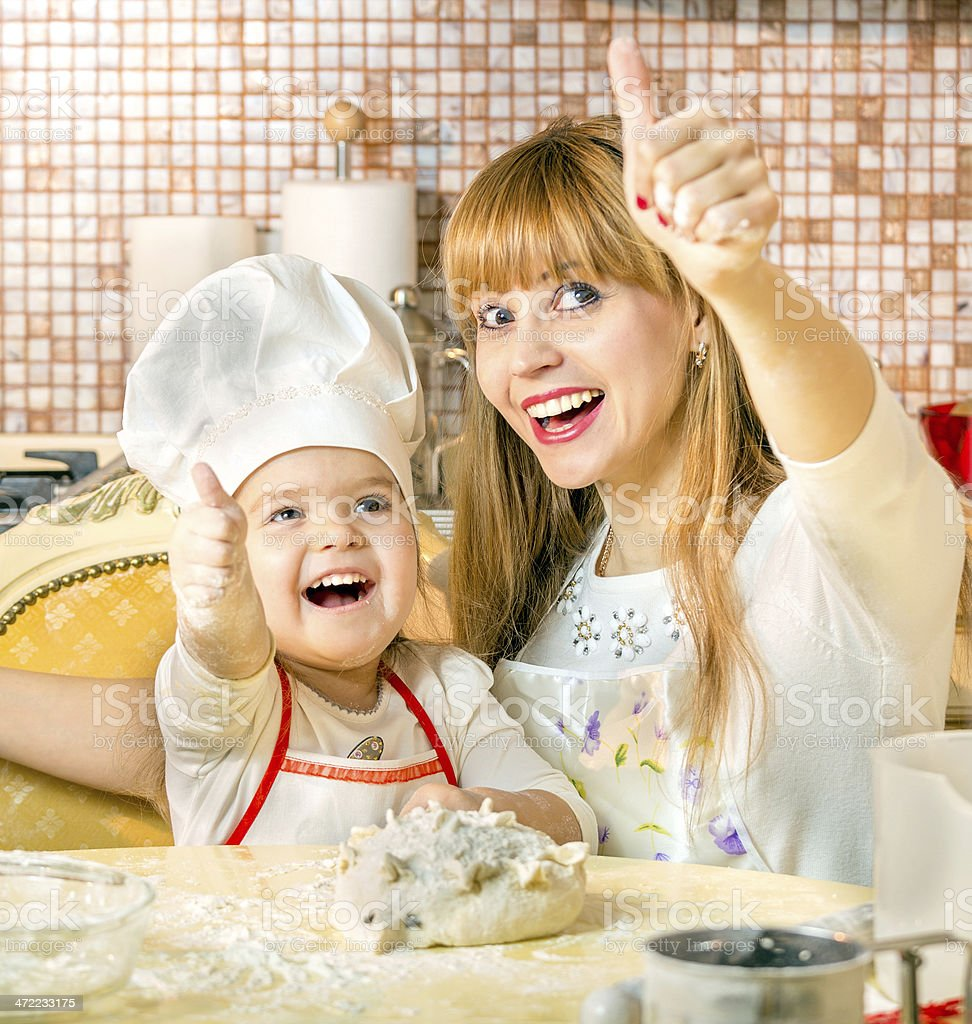 Let's all cook stock photo