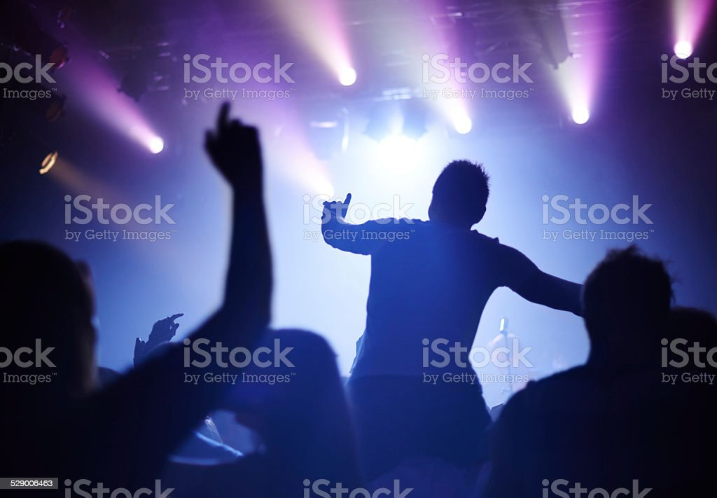 Let's bring the house down! stock photo