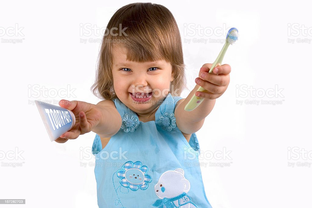 Let`s brush teeth ! royalty-free stock photo
