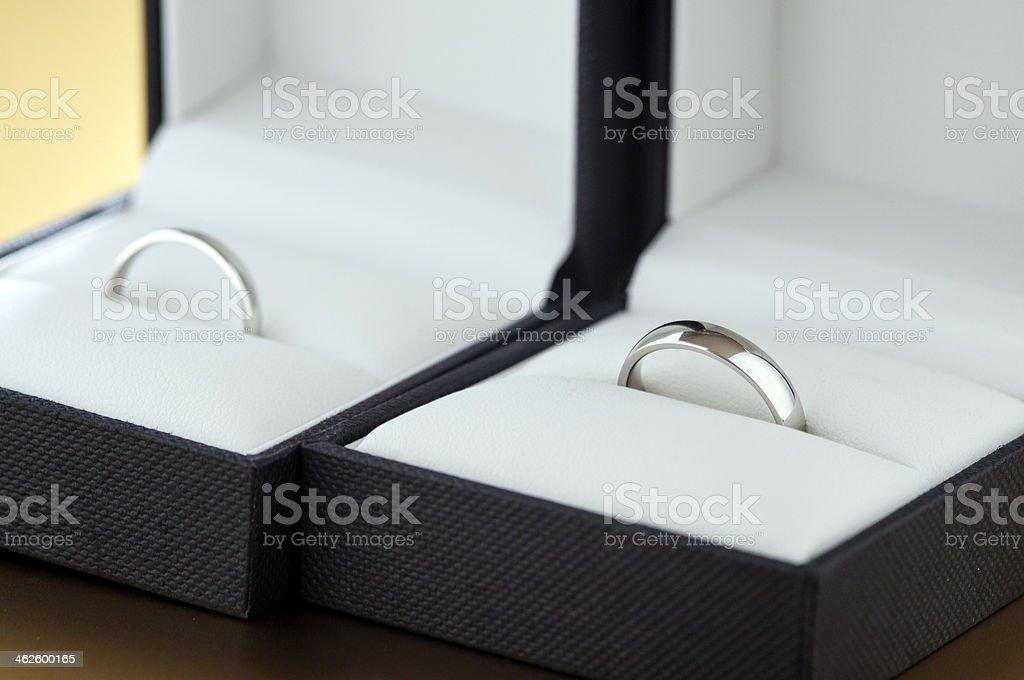 Let's buy rings stock photo