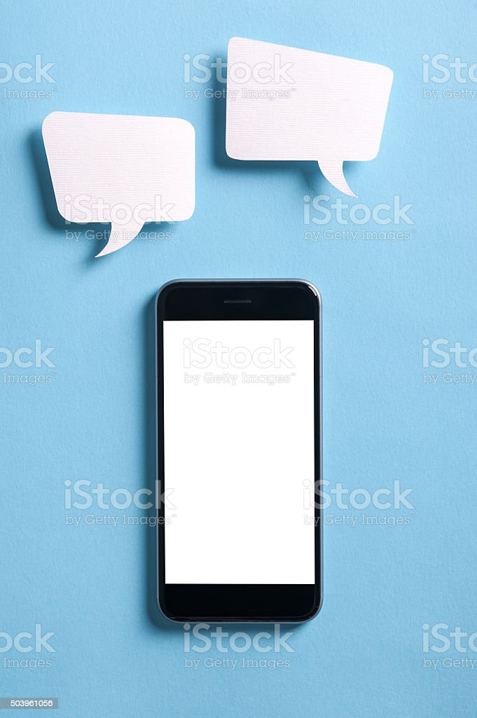 Let's chat stock photo