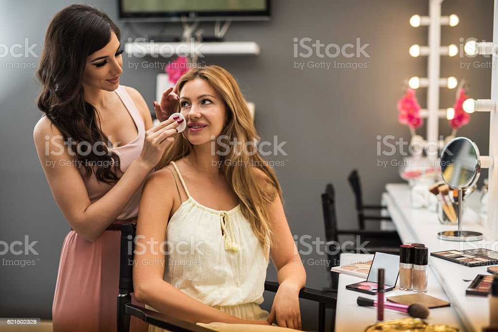 Let's clean the face before make-up! foto stock royalty-free