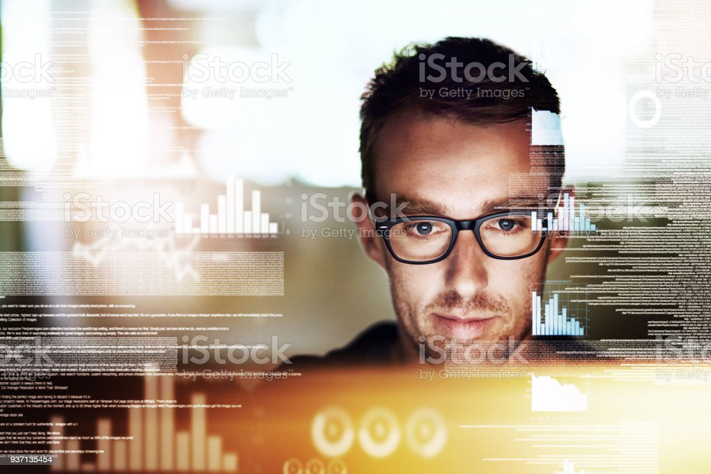Let's delve into this code stock photo