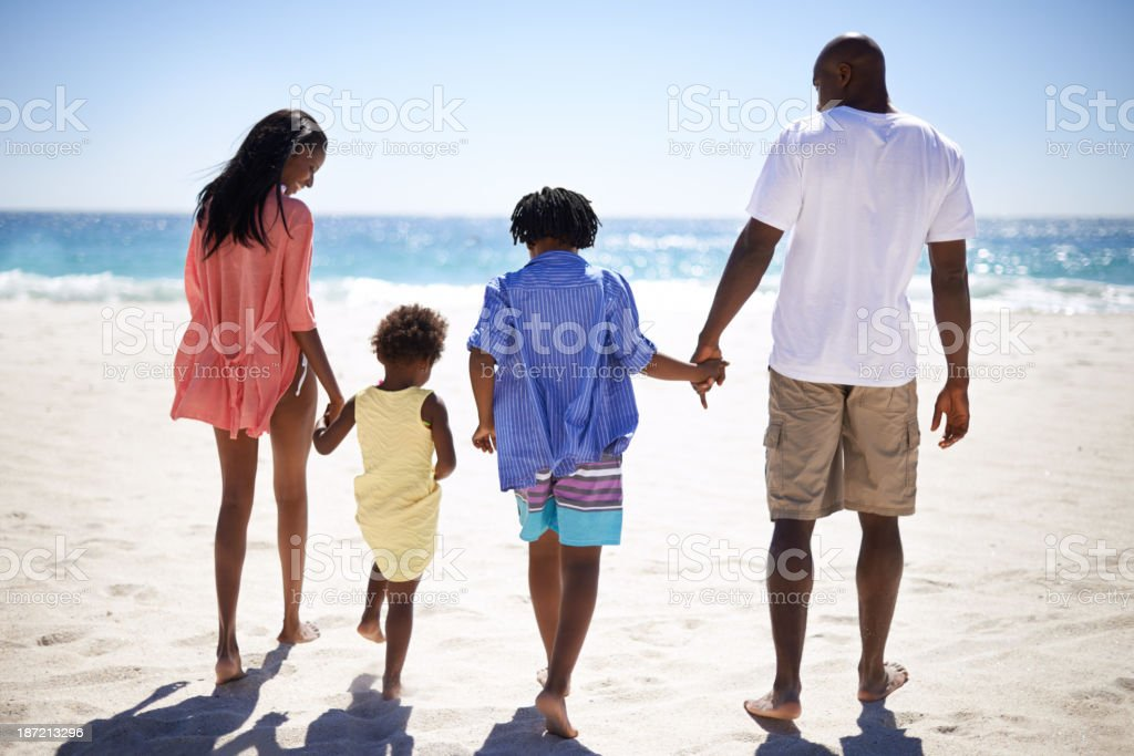 Let's dip our feet in the water! stock photo