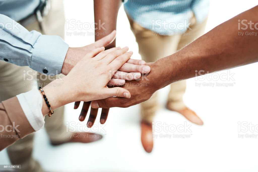 Let's do it together or not at all stock photo