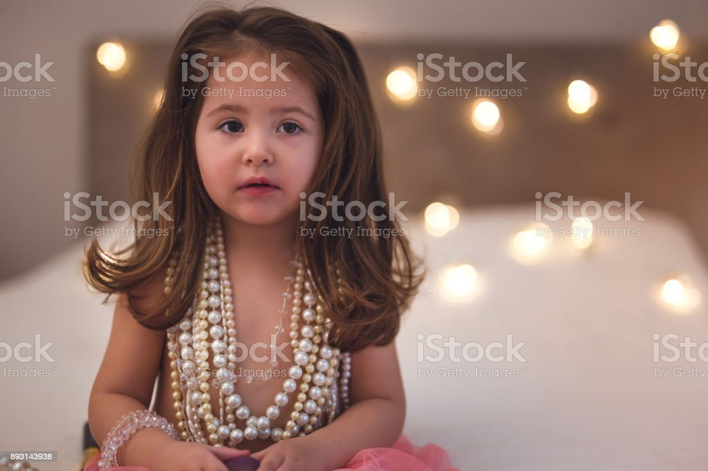 Let's do make up mommy stock photo