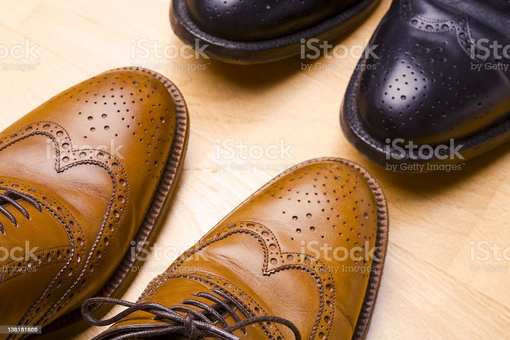 Let´s down to business-Two pairs of business shoes stock photo