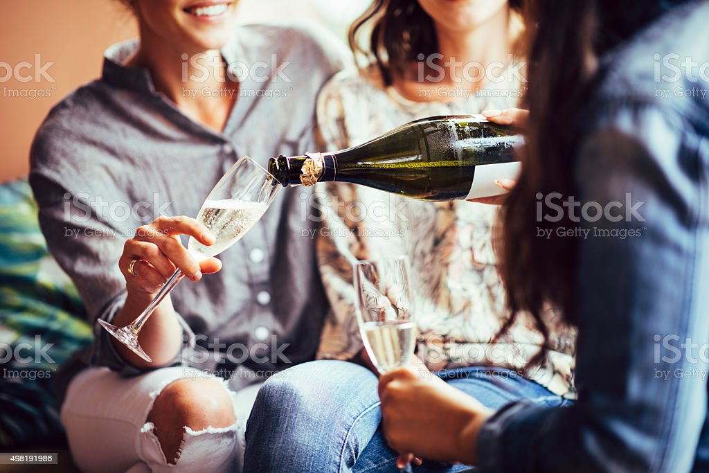 Let's drink some more! stock photo