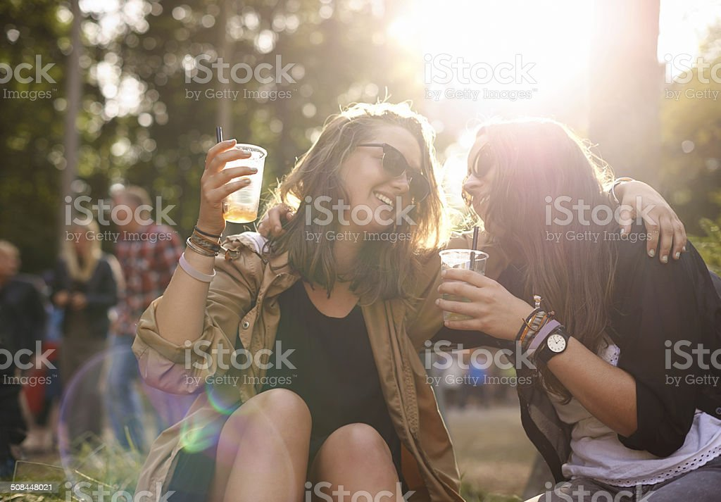 Let's drink to our friendship stock photo