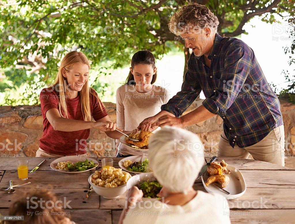 Let's eat! stock photo