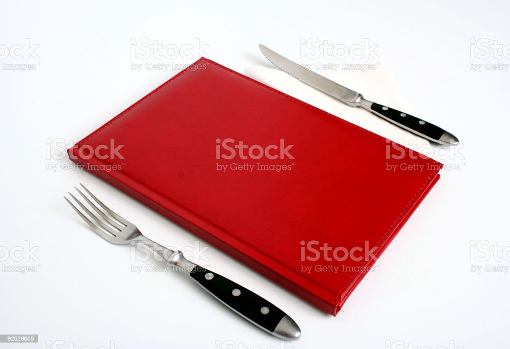 let's eat!  Book Stock Photo