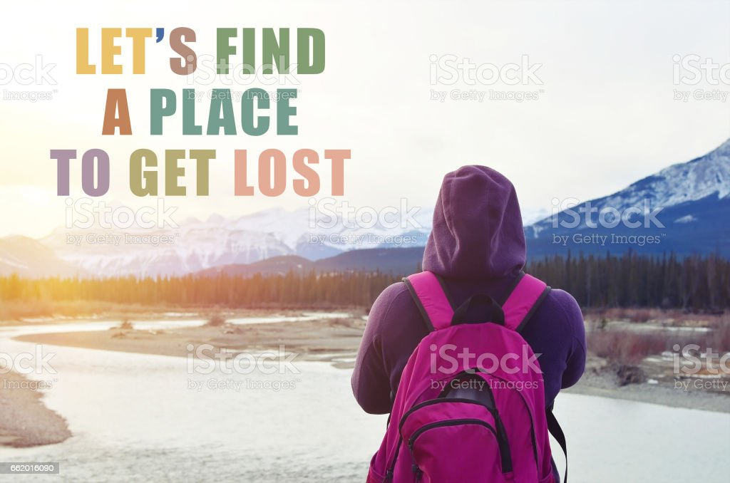 Let's find a place to get lost, travel concept royalty-free stock photo