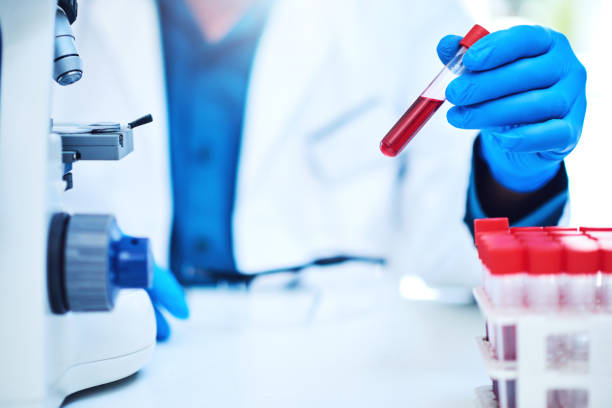 Let's get a closer look at this sample Closeup shot of a scientist analyzing samples in a laboratory biochemist stock pictures, royalty-free photos & images