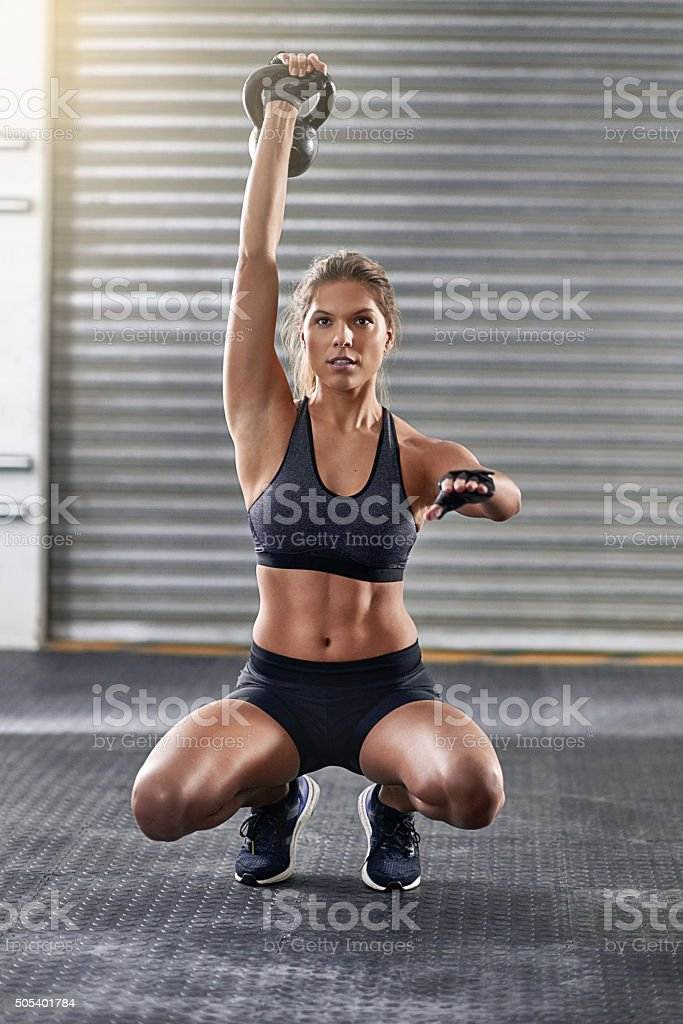 Let's get down to fitness stock photo