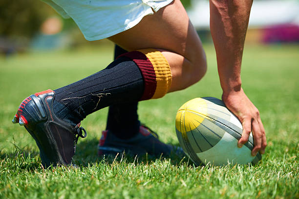 let's get this game started! - rugby ball stock photos and pictures