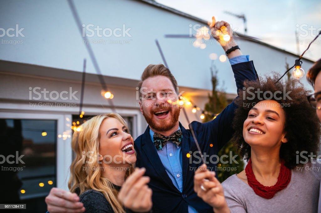 Let's get this party started ! stock photo