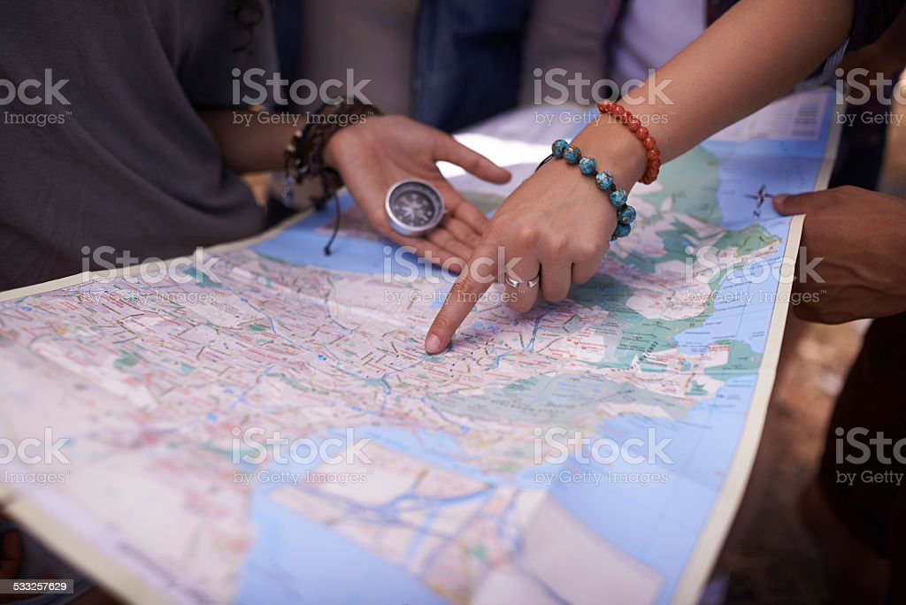 Let's go on an adventure stock photo