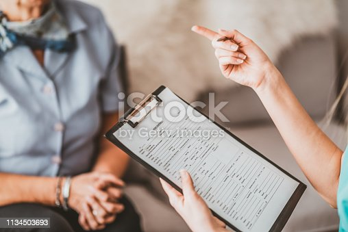 istock Lets go over our agreement 1134503693