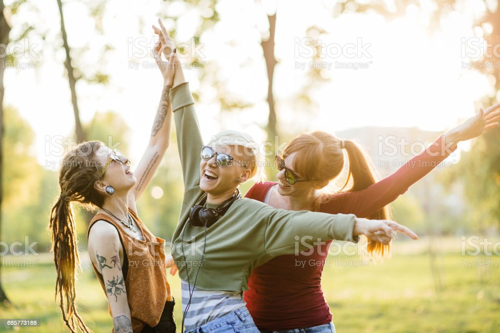 Let's go party together royalty-free stock photo