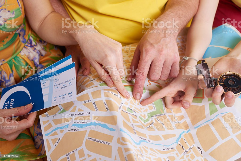Let's go there stock photo
