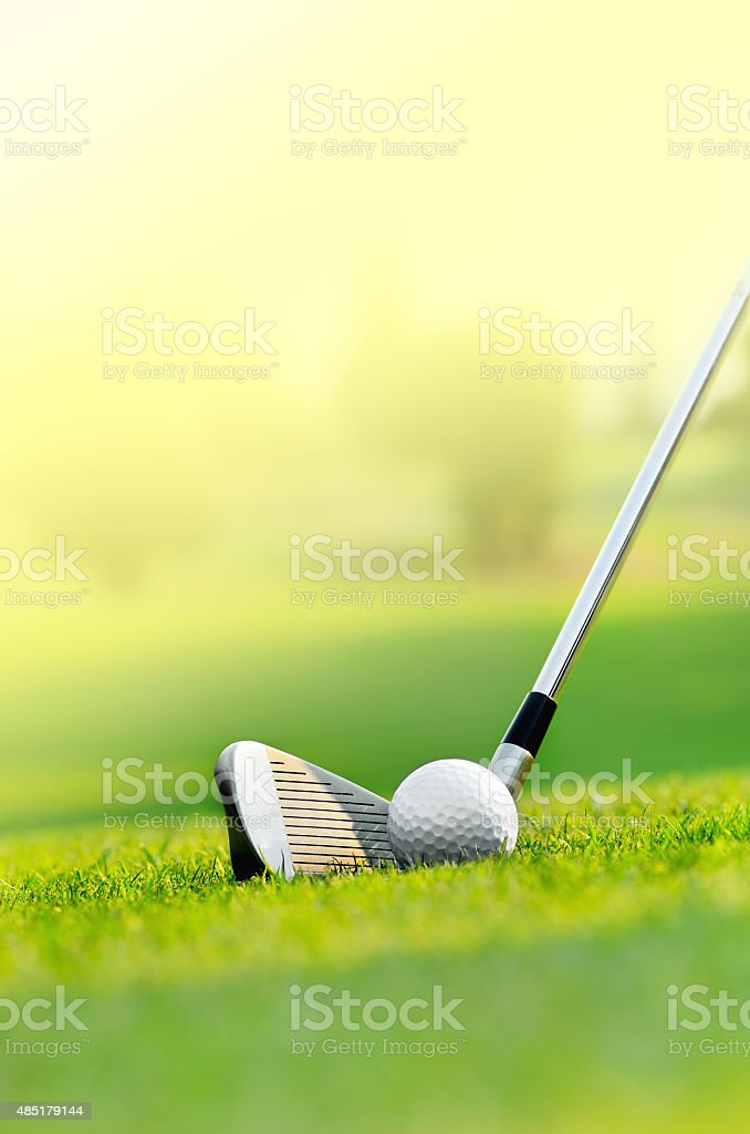 Let's golf stock photo