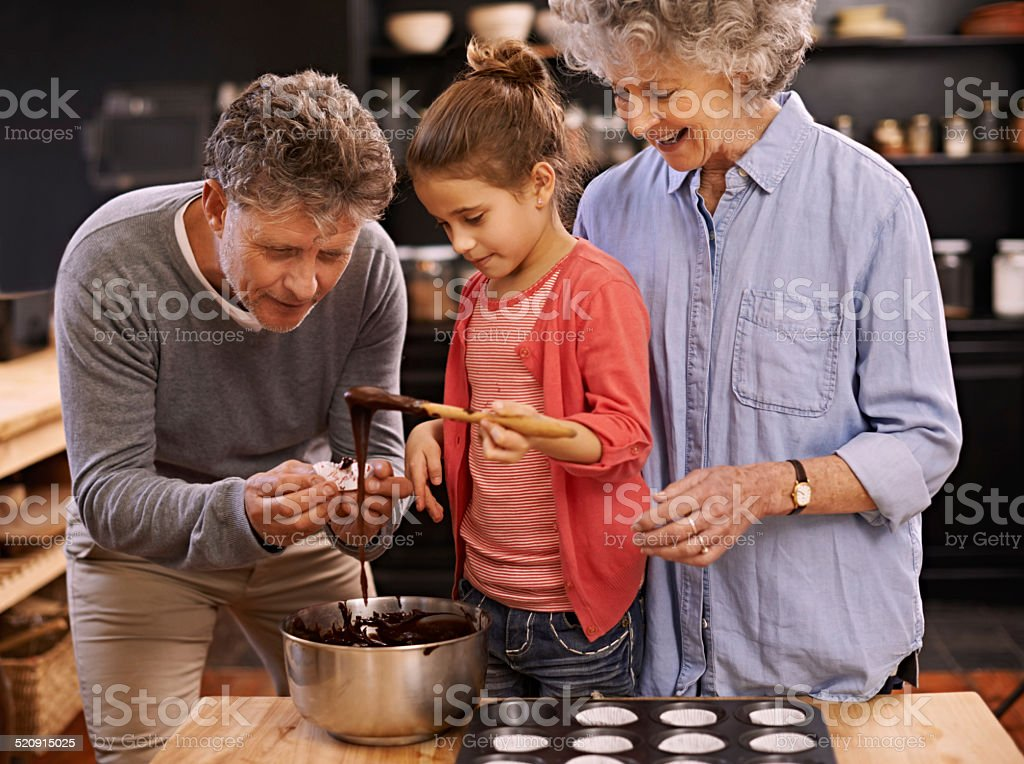 Let's have a taste then! stock photo