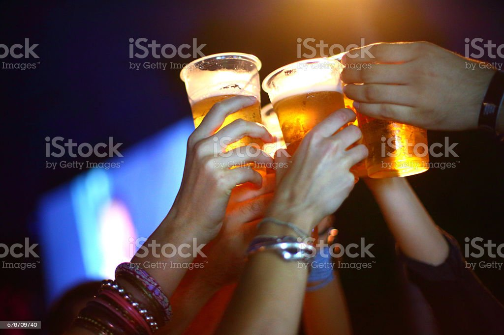 Let's have some beer. stock photo