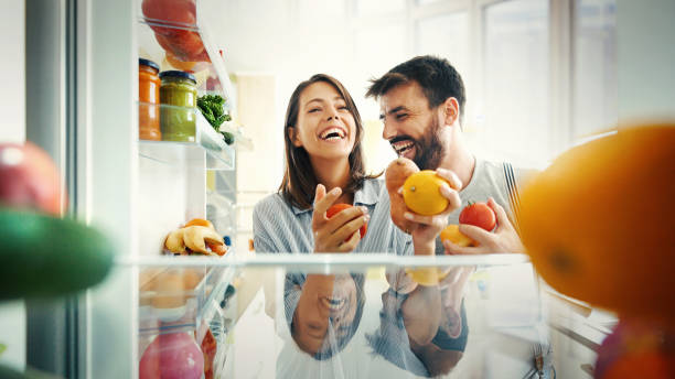 Let's have some breakfast. stock photo