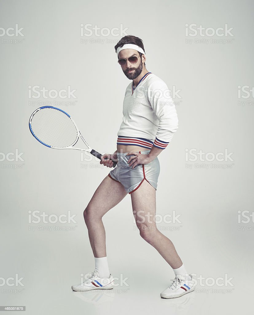 Let's hit the court! stock photo