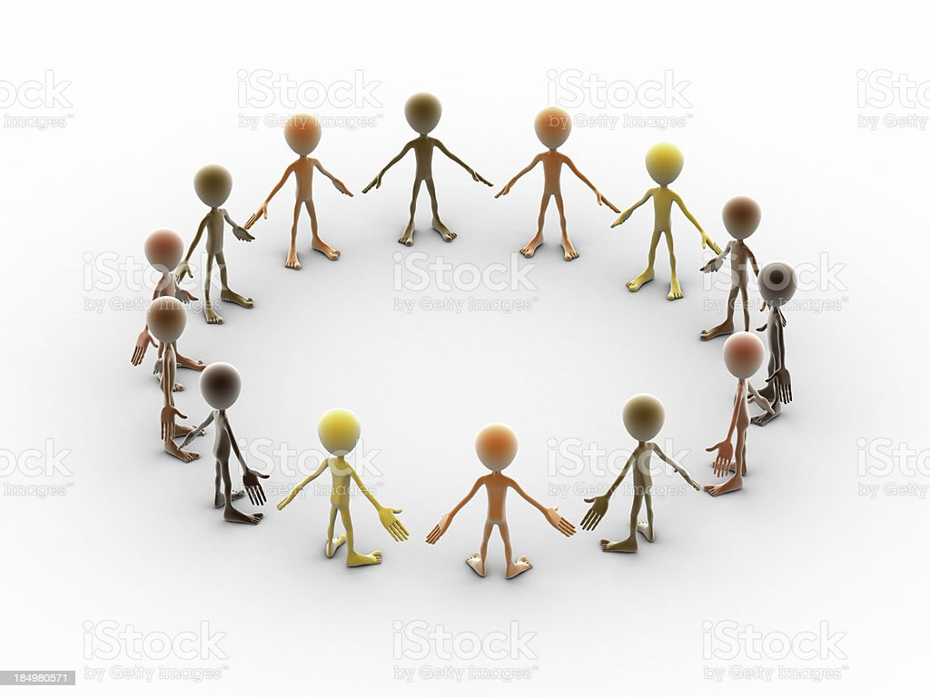 Lets hold hands royalty-free stock photo