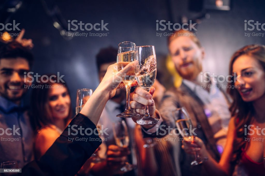 Let's kick this party into high gear ! stock photo