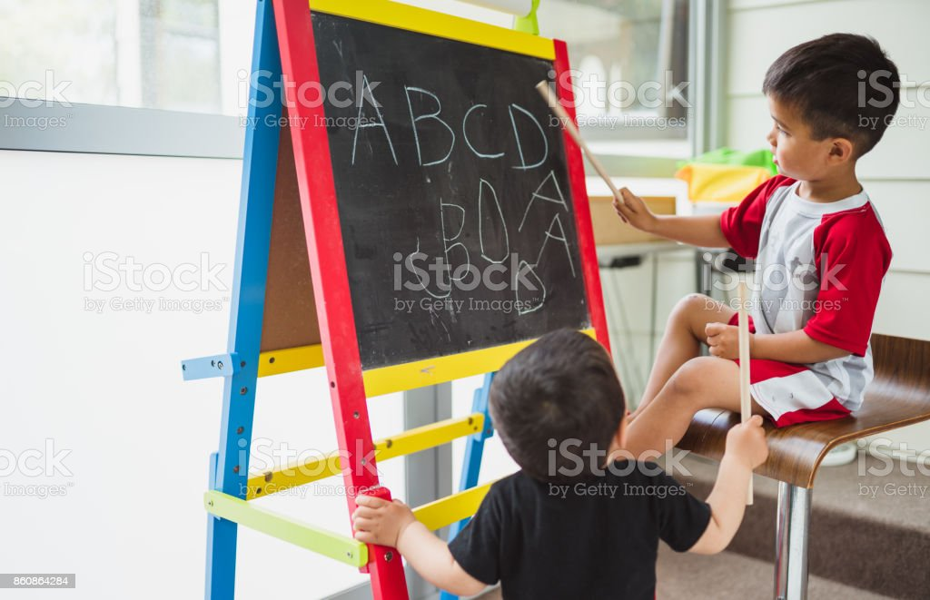 Lets learn together. stock photo