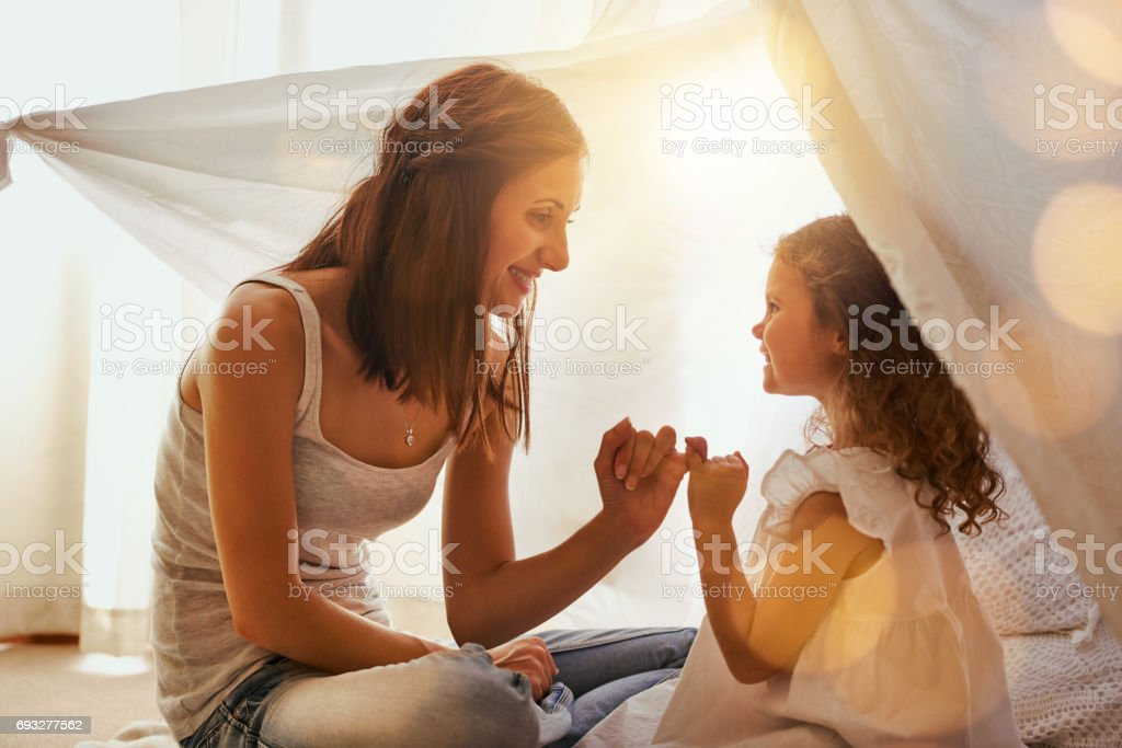 Lets make a promise stock photo
