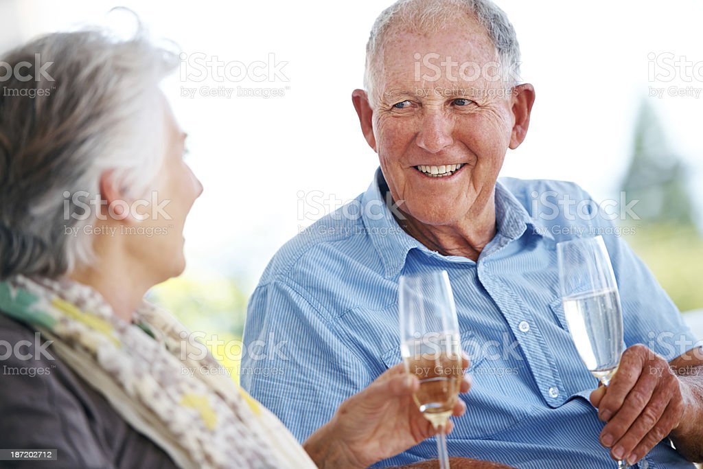 Let's make a toast... royalty-free stock photo