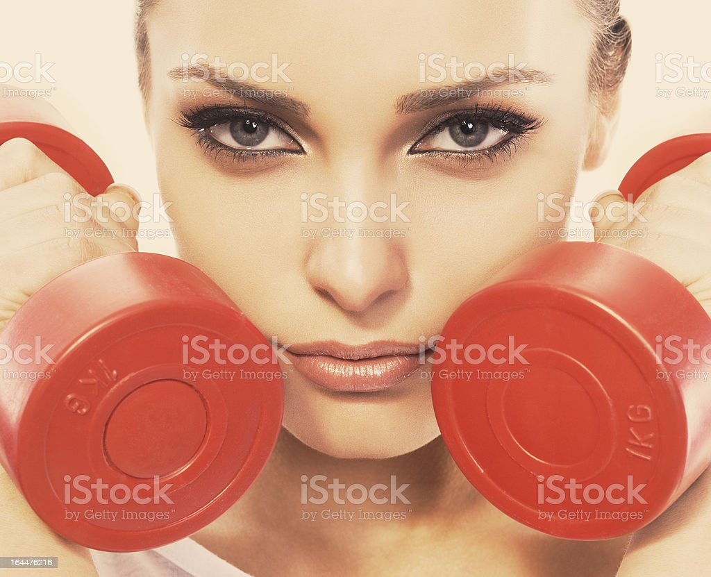 Let's make fitness royalty-free stock photo