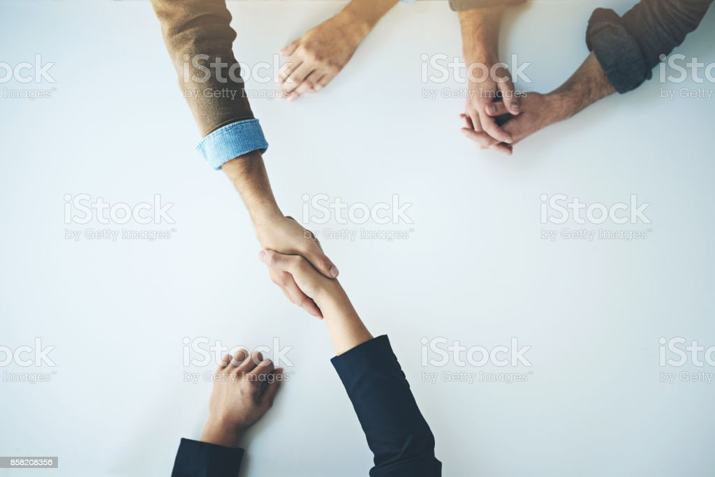 Let's make great things happen together stock photo