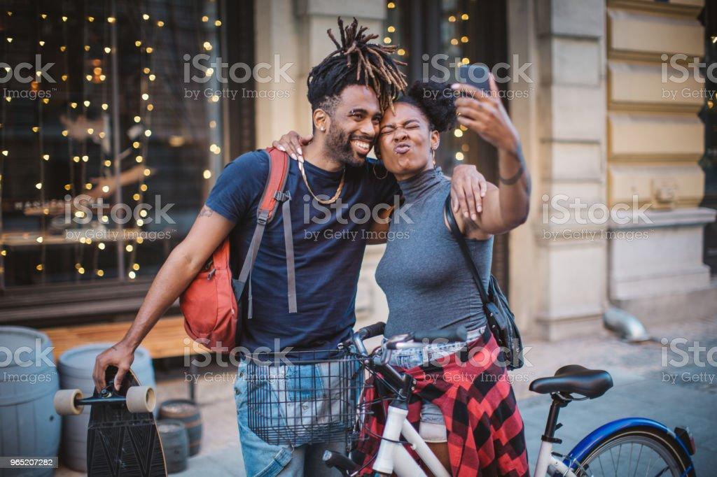 Lets make selfie zbiór zdjęć royalty-free
