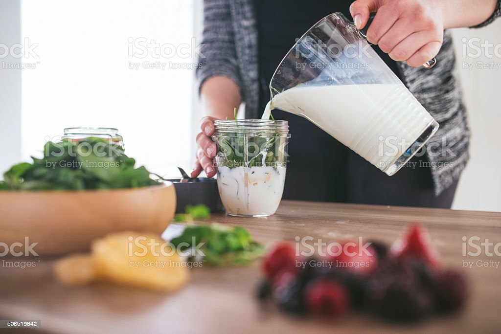 Let's make this delicious smoothie! stock photo