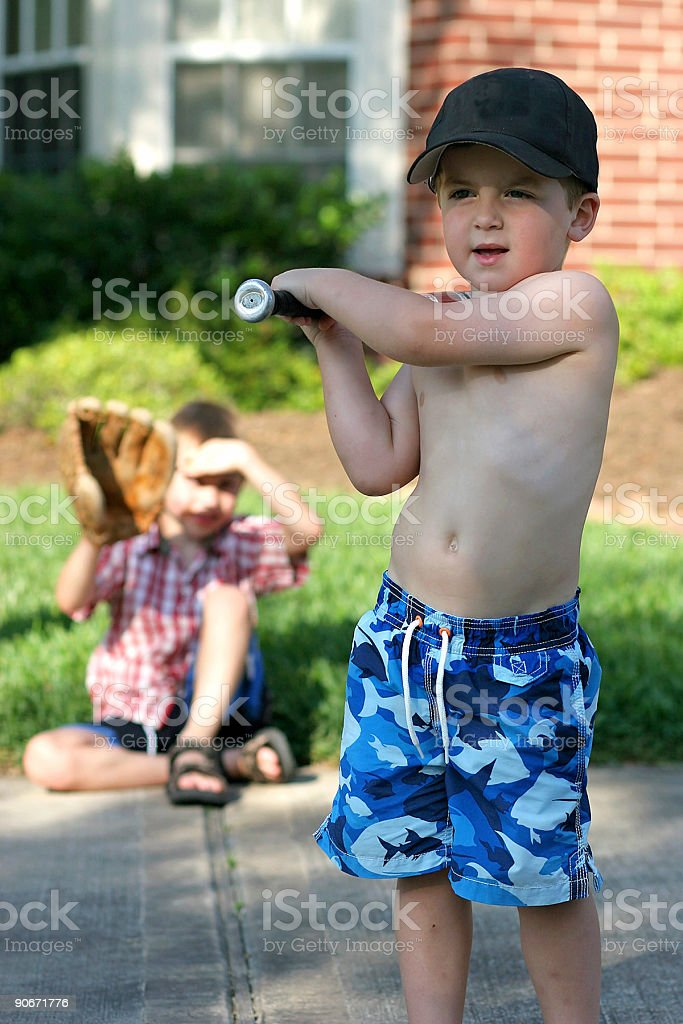 Let's play ball! stock photo