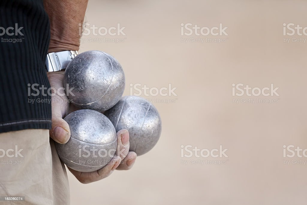 Lets Play Boules stock photo