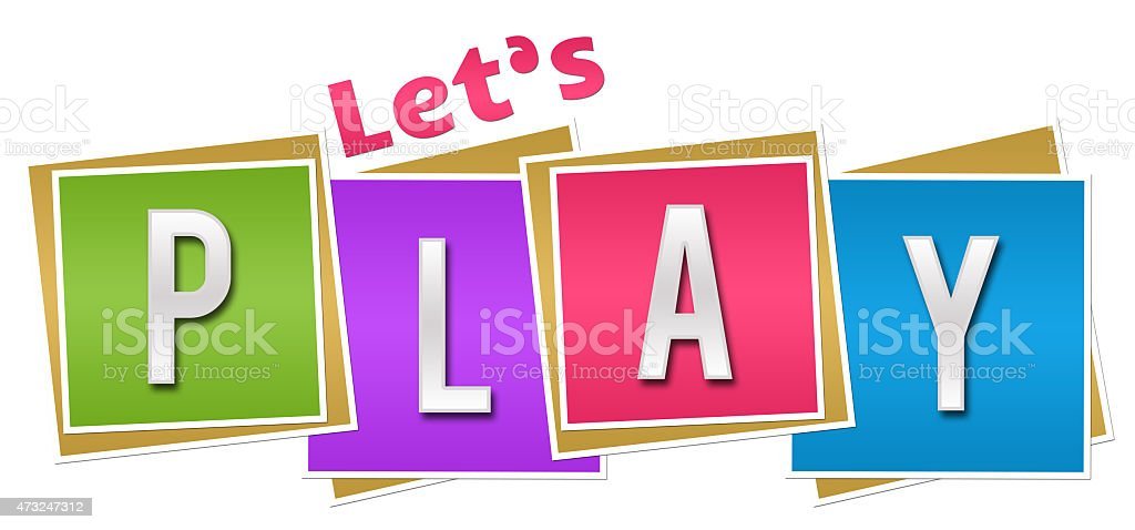 Lets Play Colorful Blocks stock photo