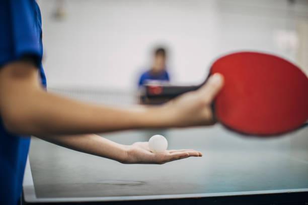 let's play table tennis - table tennis stock pictures, royalty-free photos & images