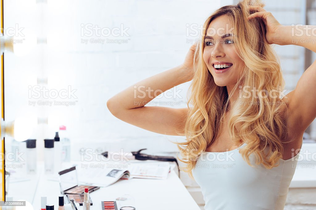 Lets play with my look! stock photo