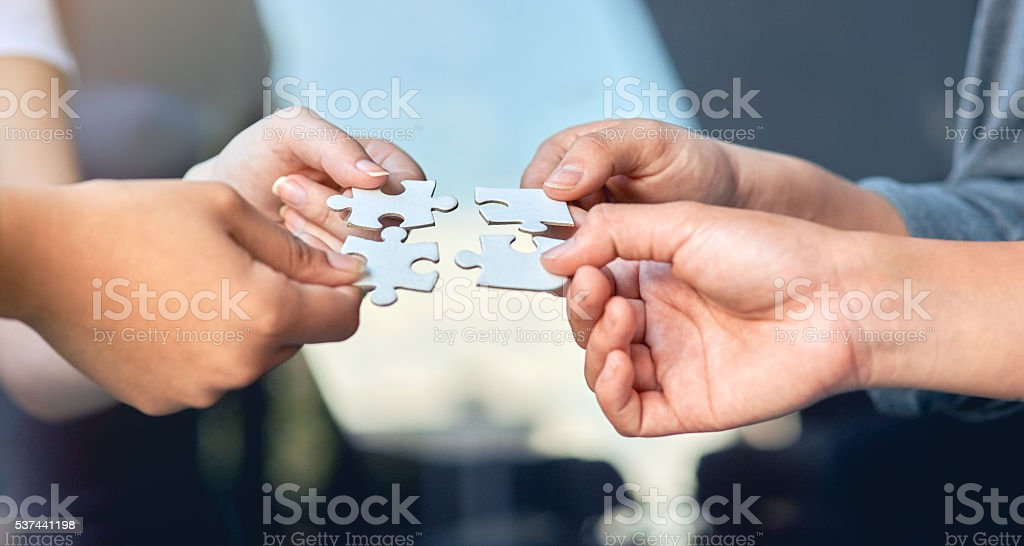 Let's put it all together stock photo