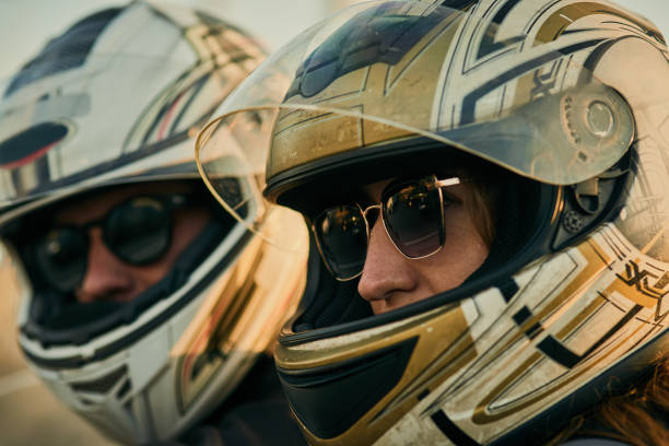 let's ride and find something new in the city - crash helmet stock photos and pictures