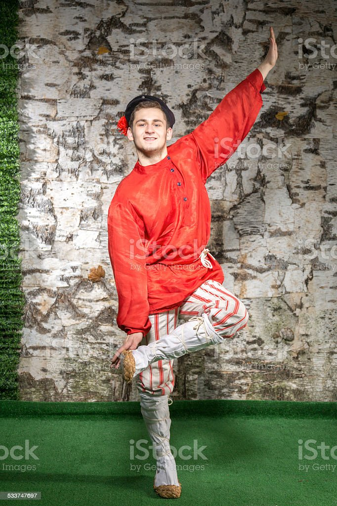 Let's Russian dance stock photo